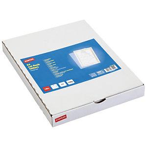Staples Dossier uñero, A4, polipropileno rugoso, 120 micras, transparente