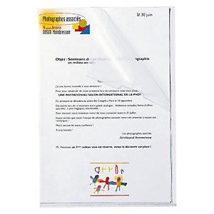 Staples Dossier uñero, A4, polipropileno, transparente