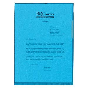 Staples Dossieres uñeros A4, polipropileno de 110 micras, textura de piel de naranja, azul