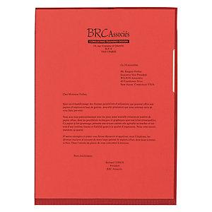Staples Dossieres uñeros A4, polipropileno de 110 micras, textura de piel de naranja, rojo