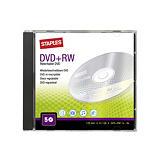 Staples DVD+RW vírgenes regrabables de 4,7 GB / 120 min, 4 X de velocidad Paquete de 5 unidades con carcasa protectora
