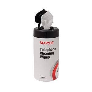 Staples Envase de toallitas de limpieza antibacterianas para teléfonos
