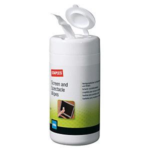 Staples Envase de toallitas para gafas y pantallas