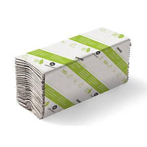 Staples Essuie-mains pliage en C simple épaisseur gaufrés recyclés 182feuilles 330mm blanc naturel