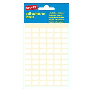 Staples Etichette autoadesive, 8 mm x 12 mm, 66 etichette per foglio, Bianco (confezione da 7 fogli)
