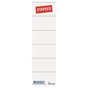 Staples Etiqueta lomera para archivador 54 x 190 mm blanca