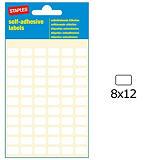 Staples Etiquetas autoadhesivas, 8 mmx12 mm, 66etiquetas por hoja, blancas
