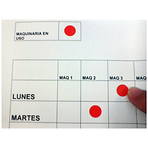 Staples Etiquetas autoadhesivas, redondas, 19 mm, 20etiquetas por hoja, rojo