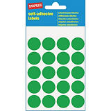 Staples Etiquetas autoadhesivas, redondas, 19mm, 20etiquetas por hoja, verde