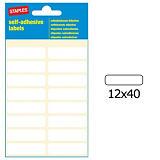 Staples Etiquetas manuales 40 x 12 mm, 16 etiqueta/hoja