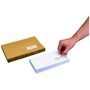 Staples Etiquetas multiuso, autoadhesivas permanentes, angulares, 42,3x105 mm, blanco