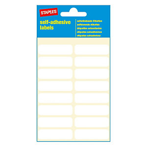 Staples Étiquettes auto-adhésives, 12mmx 40mm, 16étiquettes par page, blanches