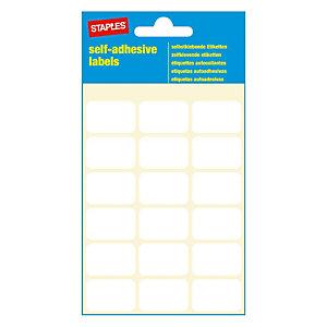 Staples Étiquettes auto-adhésives, 17mmx 26mm, 18étiquettes par page, blanches