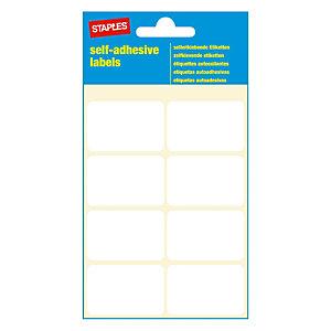 Staples Étiquettes auto-adhésives, 26mmx 40mm, 8étiquettes par page, blanches