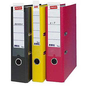 Staples Étiquettes bristol pour classeur fin de dos 5 cm 190 x 30 mm