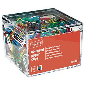 Staples Fermagli colorati in acciaio, Dimensioni 25 mm, Colori Assortiti