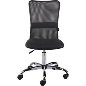 Staples Flight Silla de trabajo, malla y tela, 58,5 x 63,5 x 105,5 cm, negro