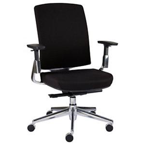 Staples Forbes Silla de oficina, tela, altura 102-111,5 cm, negro