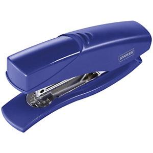 Staples Grapadora manual, capacidad para 25 hojas, compatible con grapas 24/6, azul