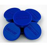 Staples Imanes redondos de 10mm azules con capacidad para sujetar 4 hojas, paquete de 10