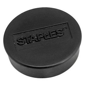 Staples Imanes redondos de 25mm negros con capacidad de sujetar 8 hojas, paquete de 10