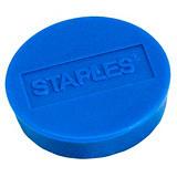 Staples Imanes redondos de 30 mm azules con capacidad de sujetar 12 hojas, paquete de 10