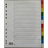 Staples Intercalaires neutres maxi A4+ en polypropylène 12 divisions - Assortis