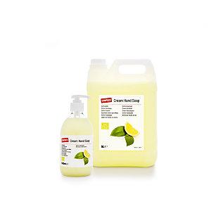 Staples Jabón de manos en crema con aroma a té verde y limón, verde, 500 ml, botella con dosificador