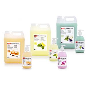Staples Jabón de manos nutritivo con aroma a miel y vainilla, amarillo, 500 ml, botella con dosificador