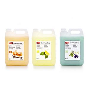 Staples Jabón de manos nutritivo en crema con aroma a té verde y limón 5l, garrafa