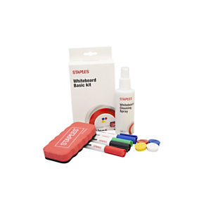 Staples Kit de accesorios básicos para pizarra blanca de borrado en seco