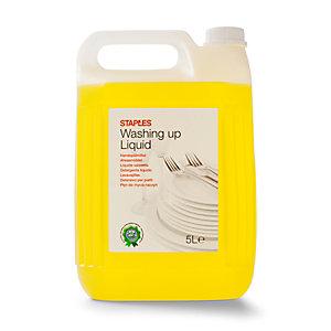 Staples Lavavajillas líquido, fragancia de cítricos, amarillo, 5 L, tapón de rosca