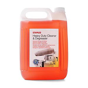 Staples Limpiador y desengrasante industrial de uso intensivo, concentrado rojo-marrón, 5 L