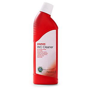 Staples Limpiador WC, fragancia de pino, concentrado rojo, 750 ml