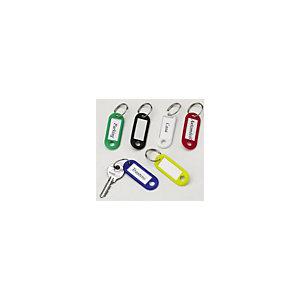 Staples Llaveros de plástico, colores surtidos, bolsa de 12