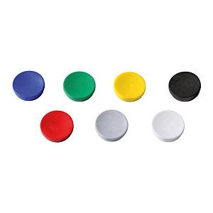 Staples Magnete per lavagna, Capacità di tenuta 15 fogli, 35 mm, Rotondo, Colori assortiti (confezione 10 pezzi)