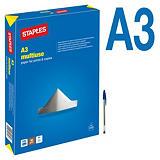 Staples Multiuse Papel Multifunción para Faxes, Fotocopiadoras, Impresoras Láser e Impresoras de Inyección de Tinta Blanco A3 80 g/m²