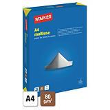 Staples Multiuse Papel Multifunción para Faxes, Fotocopiadoras, Impresoras Láser e Impresoras de Inyección de Tinta Blanco A4 80 g/m²