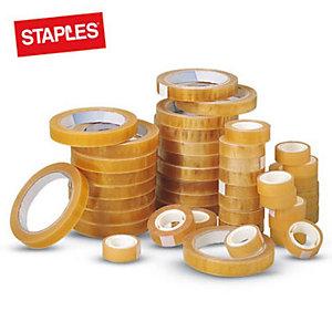Staples Nastri adesivi trasparenti - Dimensioni 19 mm x 10 m - Diametro interno 25 mm