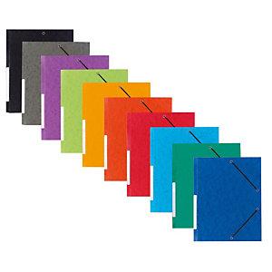 Staples Pack Carpetas de gomas, A4, 3 solapas, lomo 15 mm, cartulina, colores surtidos