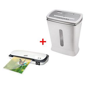 Staples Pack Plastificadora eléctrica A4 + Destructora de corte cruzado