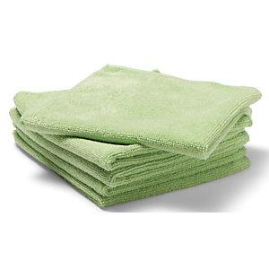 Staples Paño de limpieza de microfibras, 250 g/m², 35 x 38 cm, verde