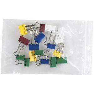 Staples Paquete de 100 bolsas herméticas transparentes de polietileno con autocierre de 100 x 150 mm