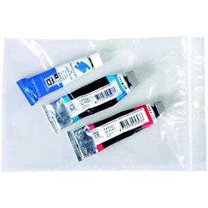 Staples Paquete de 100 bolsas herméticas transparentes de polietileno con autocierre de 160 x 220 mm