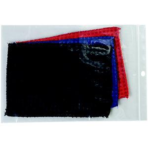 Staples Paquete de 100 bolsas herméticas transparentes de polietileno con autocierre de 270 x 380 mm