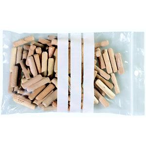 Staples Paquete de 100 bolsas herméticas transparentes de polietileno para escribir con autocierre de 120 x 180 mm
