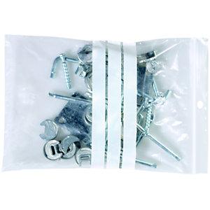Staples Paquete de 100 bolsas herméticas transparentes de polietileno para escribir con autocierre de 160 x 220 mm