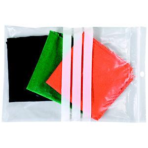 Staples Paquete de 100 bolsas herméticas transparentes de polietileno para escribir con autocierre de 230 x 320 mm