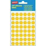 Staples Pastille adhésive couleur  ø 12 mm - Coloris Jaune - 240 pastilles