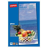 Staples Photo Plus Papel Fotográfico para Impresoras de Inyección de Tinta Blanco Brillante A4 240 g/m²